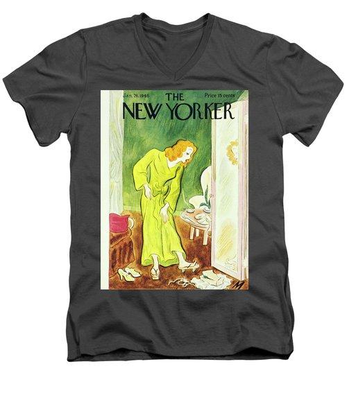 New Yorker January 26th 1946 Men's V-Neck T-Shirt