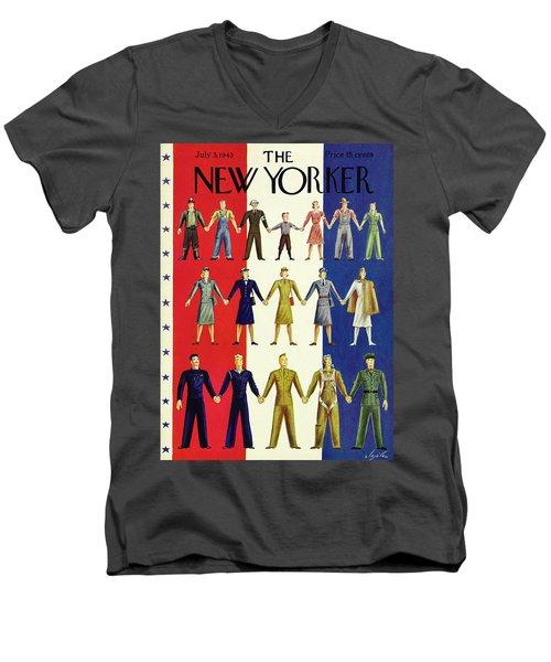New Yorker July 3rd 1943 Men's V-Neck T-Shirt