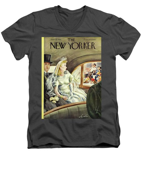 New Yorker June 20th 1942 Men's V-Neck T-Shirt