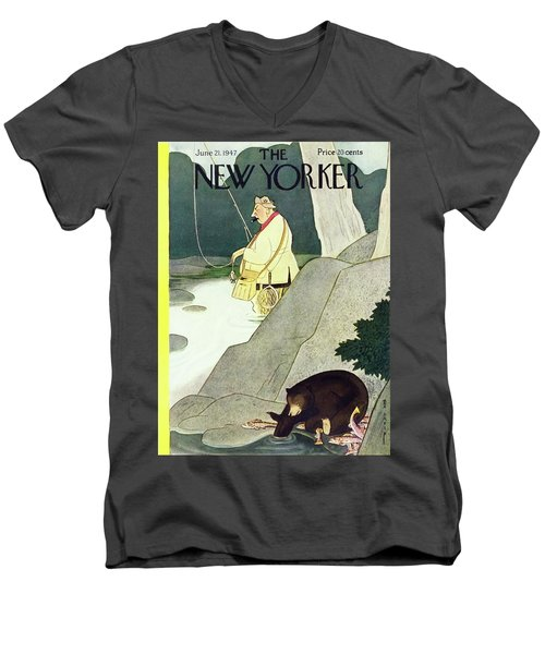 New Yorker June 21st 1947 Men's V-Neck T-Shirt
