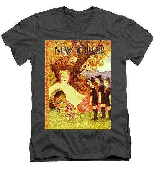 New Yorker October 9th 1943 Men's V-Neck T-Shirt