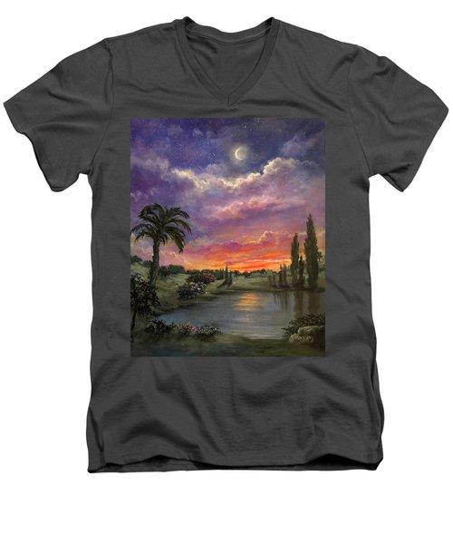 Night By Light Of Day Men's V-Neck T-Shirt