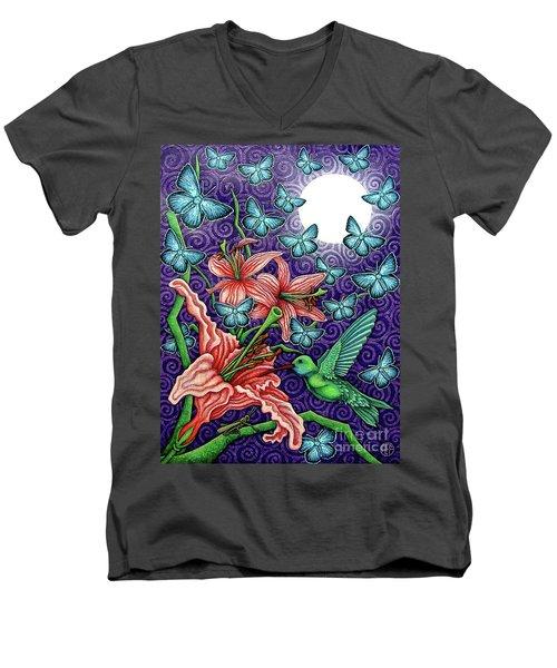 Night Garden 5 Men's V-Neck T-Shirt
