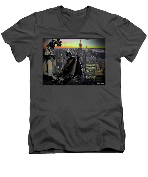 Night Of The Bat Man Men's V-Neck T-Shirt