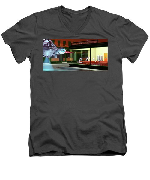 Nighthawks Invasion Men's V-Neck T-Shirt