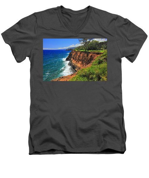 North Hawaii View Men's V-Neck T-Shirt