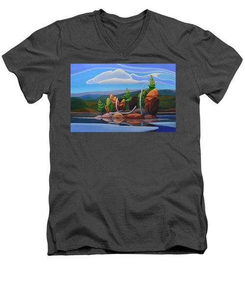 Northern Island II Men's V-Neck T-Shirt