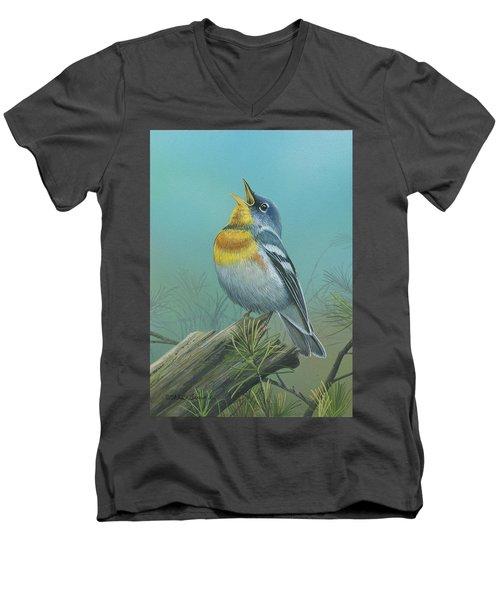 Northern Parula  Men's V-Neck T-Shirt