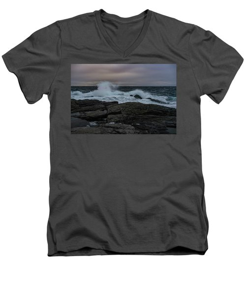 Norwegian Wild Waters Men's V-Neck T-Shirt
