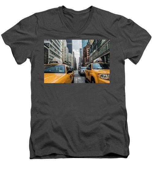 Ny Taxis Men's V-Neck T-Shirt