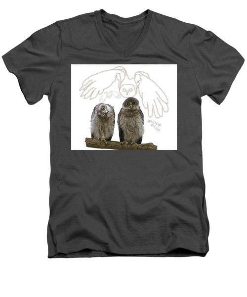 O Is For Owl Men's V-Neck T-Shirt
