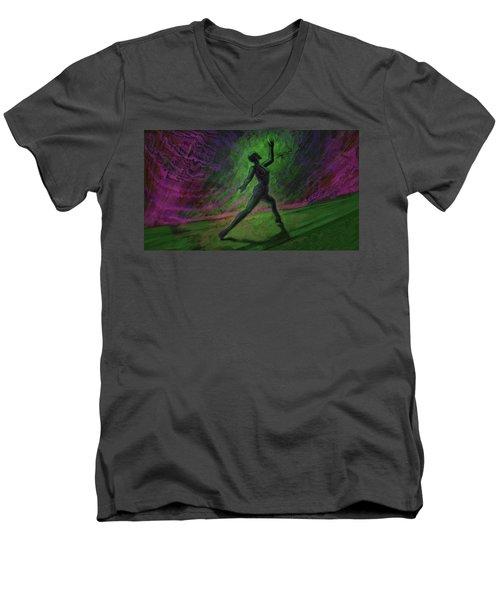Obscured Dance Men's V-Neck T-Shirt
