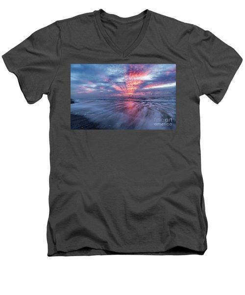 Ocean City Lights Men's V-Neck T-Shirt