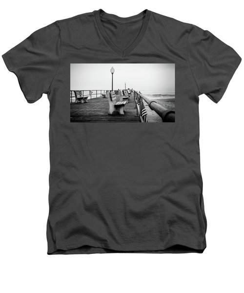 Ocean Grove Pier 2 Men's V-Neck T-Shirt