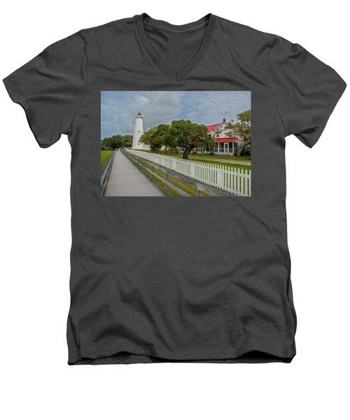 Ocracoke Lighthouse  Men's V-Neck T-Shirt