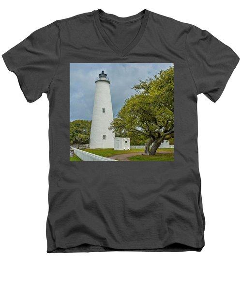 Ocracoke Lighthouse No 2 Men's V-Neck T-Shirt