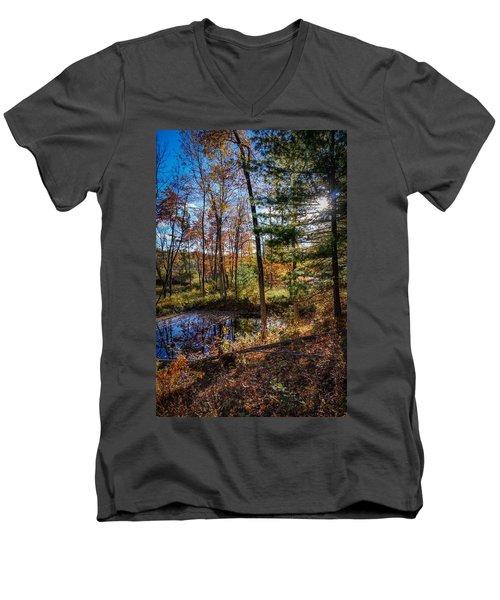 October Late Afternoon Men's V-Neck T-Shirt