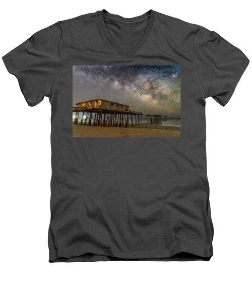 Old Frisco Pier Men's V-Neck T-Shirt