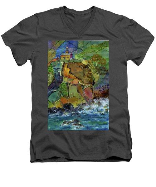 Old Point Loma Lighthouse Men's V-Neck T-Shirt
