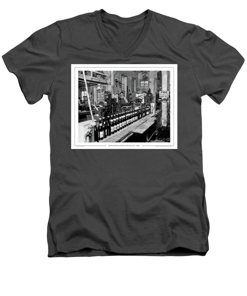 Olympia Brewing Company Bottling Line, 1920ca Men's V-Neck T-Shirt