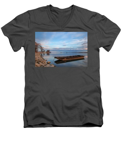 On The Shore Of The Lake Men's V-Neck T-Shirt