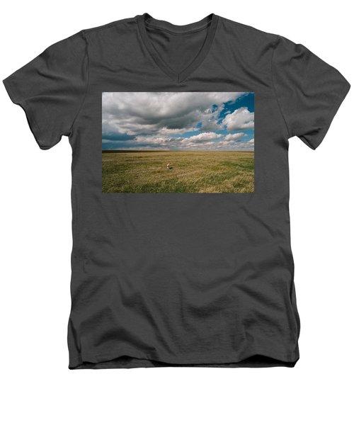 One Happy Dog Men's V-Neck T-Shirt