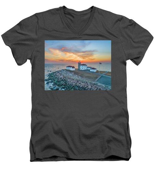 Orange Dreamsicle At Watch Hill Men's V-Neck T-Shirt