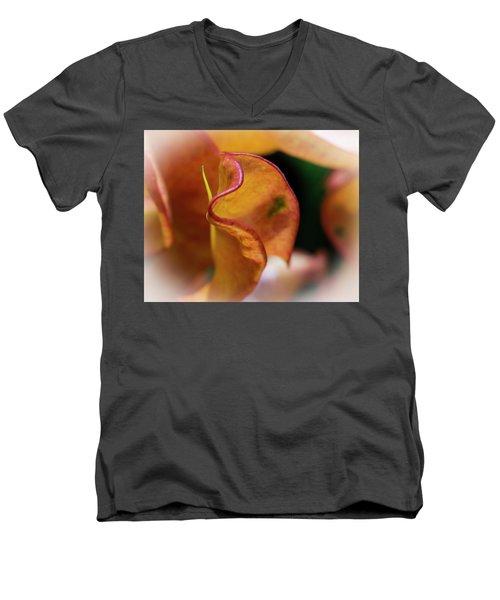 Orange Croton Men's V-Neck T-Shirt