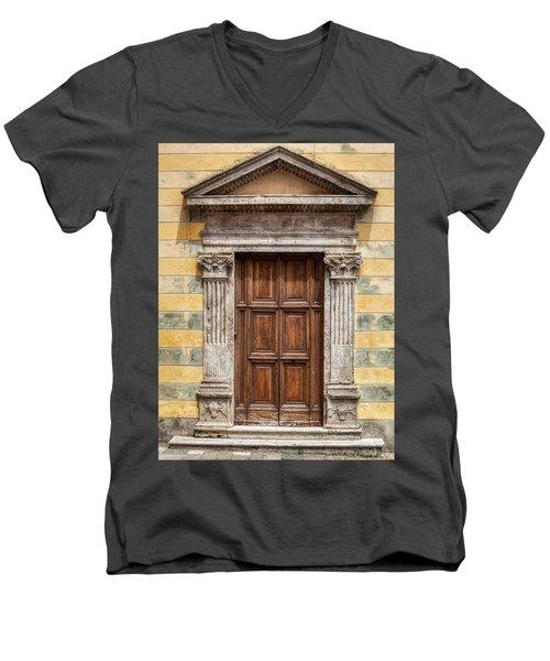 Ornate Door Of Tuscany Men's V-Neck T-Shirt