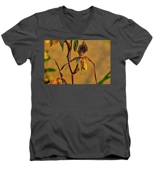 Orchid Study Eight Men's V-Neck T-Shirt