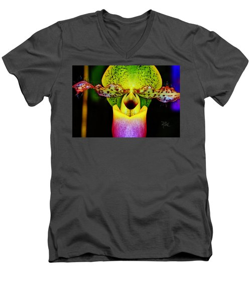 Orchid Study One Men's V-Neck T-Shirt