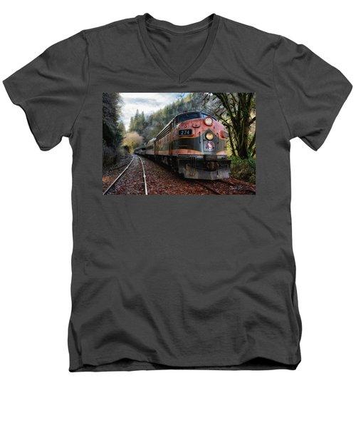 Oregon Coast Railroad Men's V-Neck T-Shirt