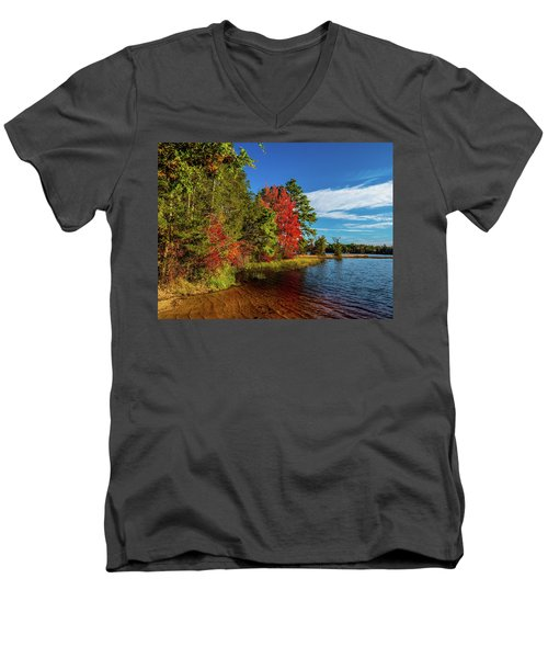 Oswego Lake Pinelands Men's V-Neck T-Shirt