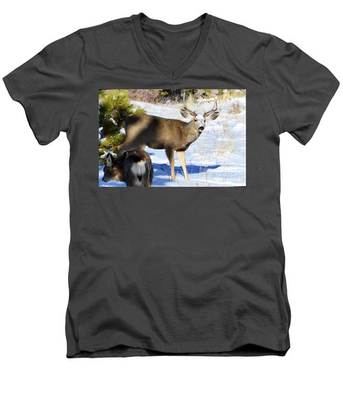 Out Of The Shadows Men's V-Neck T-Shirt