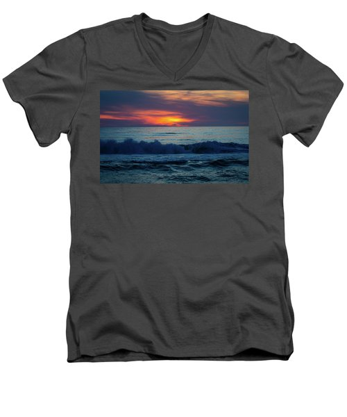 Outer Banks Sunrise Men's V-Neck T-Shirt