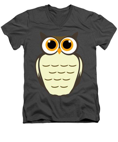 Owl Illustration Men's V-Neck T-Shirt