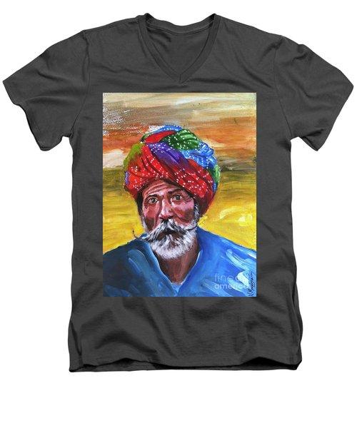 Pagdi Men's V-Neck T-Shirt