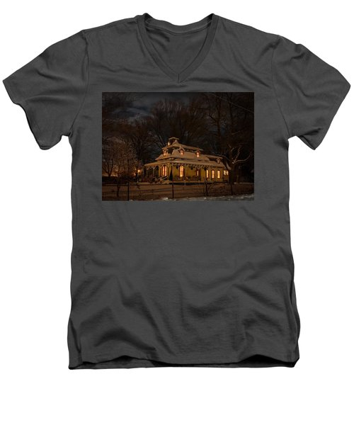 Painted Lady In Winter Men's V-Neck T-Shirt