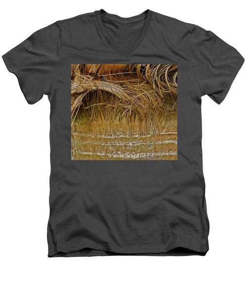 Palm Tree Straw 2 Men's V-Neck T-Shirt