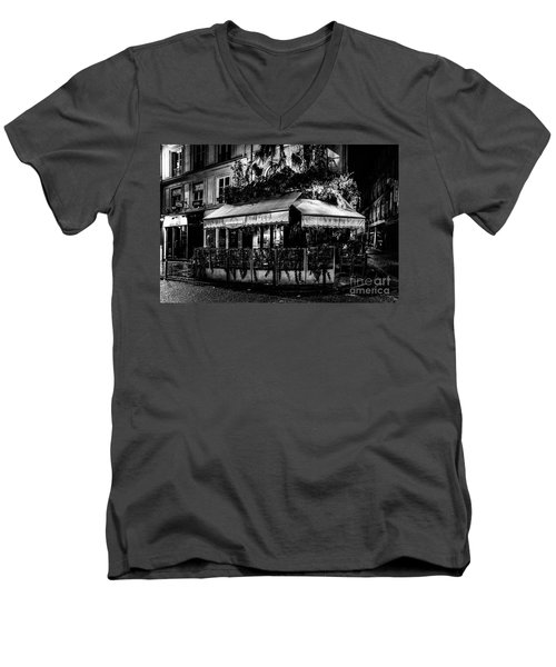 Paris At Night - Rue De Buci Men's V-Neck T-Shirt