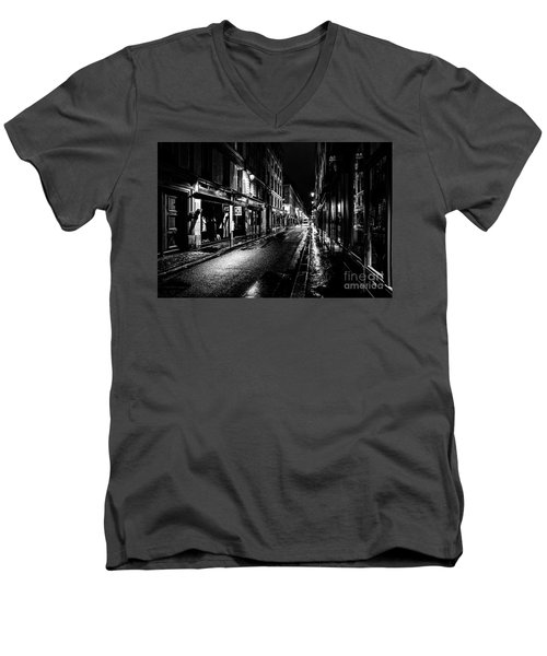 Paris At Night - Rue De Vernueuil Men's V-Neck T-Shirt
