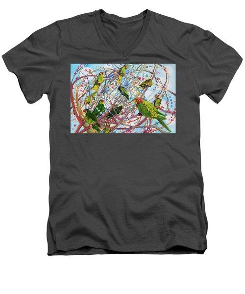 Parrot Bramble Men's V-Neck T-Shirt
