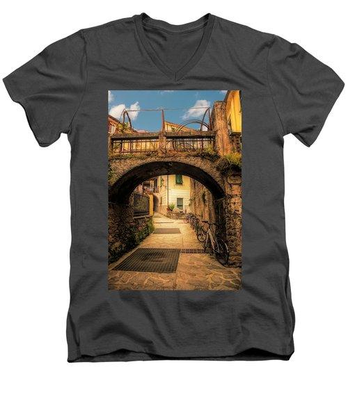 Passageway In Monterosso Men's V-Neck T-Shirt