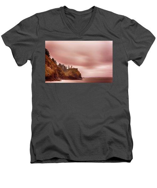 Pastel Seascape Men's V-Neck T-Shirt