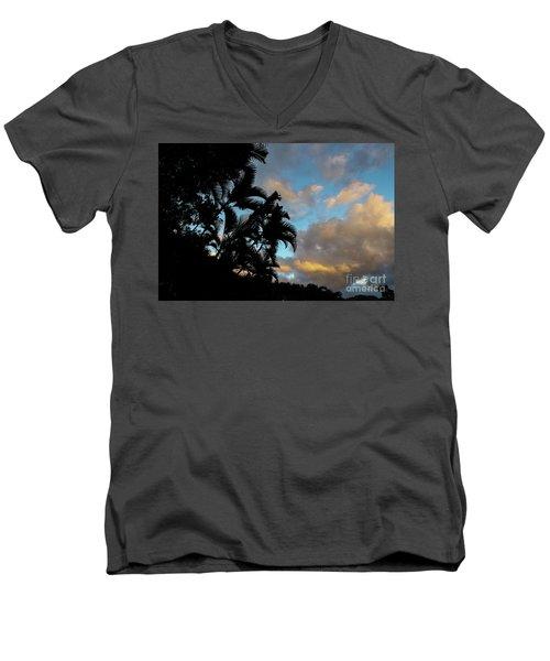 Peach Sunset  Men's V-Neck T-Shirt