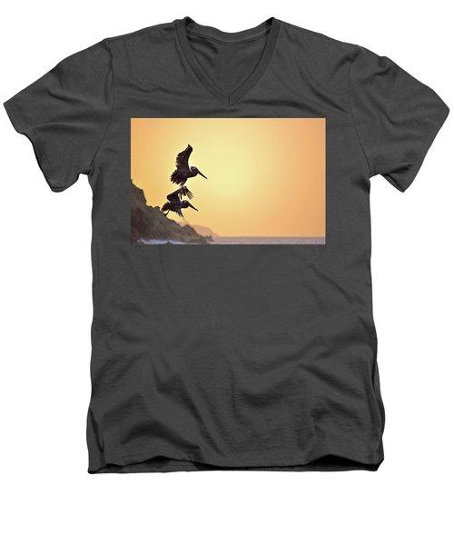 Pelican Down Men's V-Neck T-Shirt