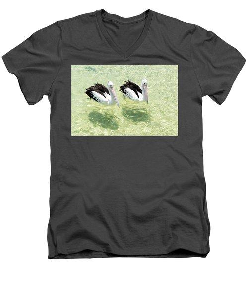 Pelicans Men's V-Neck T-Shirt