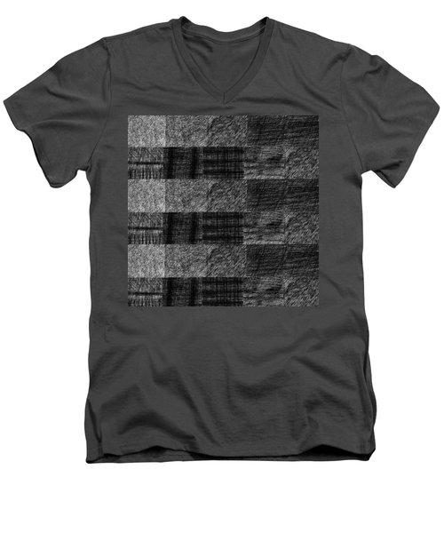 Pencil Scribble Texture 1 Men's V-Neck T-Shirt
