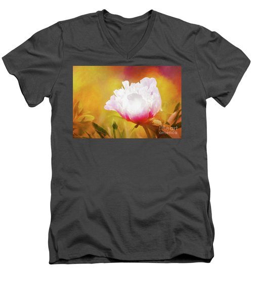 Peony Delight Men's V-Neck T-Shirt