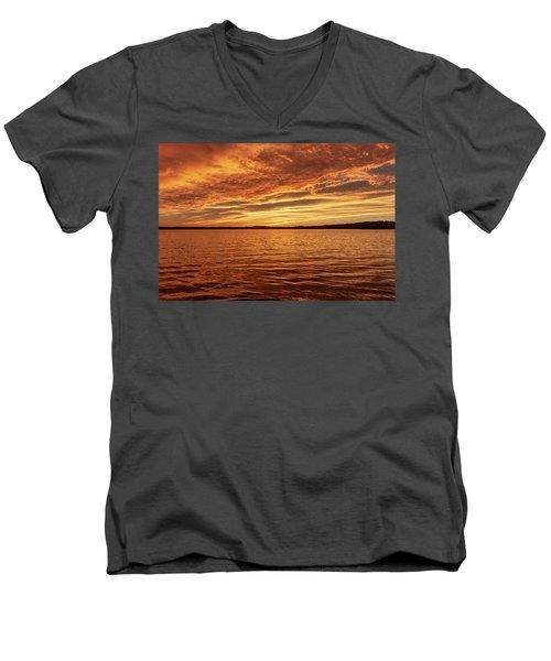 Percy Priest Lake Sunset Men's V-Neck T-Shirt